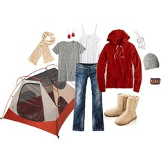 Camp out Clothes....fairly certain I DO NO look this cute whilst camping....it would be covered in mud and or other outdoor grime within two seconds. but cute!