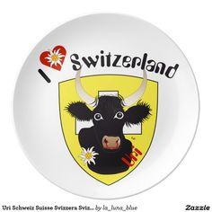 Uri Schweiz Suisse Svizzera Svizra Teller Teller Aus Porzellan