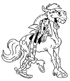 lucky luke 999 coloring pages
