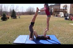 3 person acro stunt