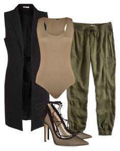 """""""Untitled #56"""" by kassievivero on Polyvore featuring Pieces, Lucky Brand, WearAll and Gianvito Rossi"""