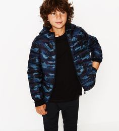 Fine quilted jacket with hood - Quilted-OUTERWEAR-BOY | 4-14 years-KIDS | ZARA…