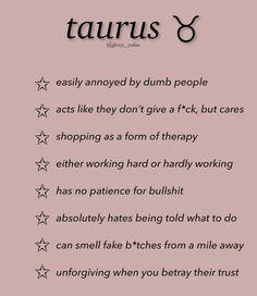 Zodiac Funny, Zodiac Memes, Zodiac Quotes, Zodiac Facts, Taurus Memes, Taurus Quotes, Taurus Facts, Astrology Taurus, Zodiac Sign Traits
