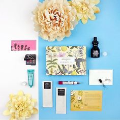 Our favorite version of #thingsorganizedneatly: #Birchbox samples!  Sign up by Monday April 25 to get this month's floral @riflepaperco-designed box : @tiny_teaa Things Organized Neatly, Face Forward, April 25, Visual Communication, Best Face Products, Gallery Wall, Graphic Design, Box, Frame