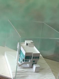 SMITH-HOUSE by Richard Meier - Architecture scale Model 1:100 with plexiglas cover