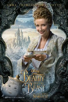 Emma thompson, pitch perfect, beauty and the beast party, live action, movie Emma Thompson, Series Poster, New Poster, Dan Stevens, Disney Live, Walt Disney, Disney Nerd, Disney Magic, Live Action