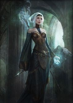 Elf Mage - Concept Art from Dragon Age: Origins