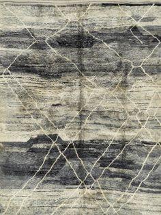 Benniz Berber � Grey and Cream rug from Bazaar Velvet