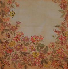 Купить Хризантемы - бежевый, цветочный, платок, женский платок, Батик, подарок девушке, шелк
