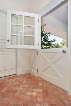 Elegant-Home-Depot-Door-Knobs-technique-San-Diego-Traditional-Entry-Decorators-with-bead-board-ceiling-brick-chrome-door-hardware-covered-entry-dutch-door-herringbone-pattern-white.jpg (660×990)