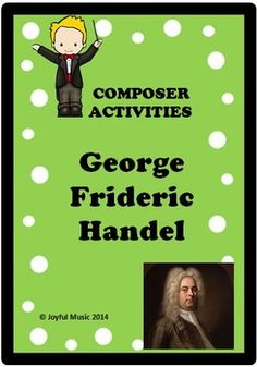 """***$5.00*** This is an easy way to share Handel with your students through Song (fun original words to """"The Hallelujah Chorus"""",) Orff, Puzzle, and Writing Prompts!Overview: This product is a curriculum integration tool incorporating music, history, math and writing for 2-5th. The lesson is built ar..."""
