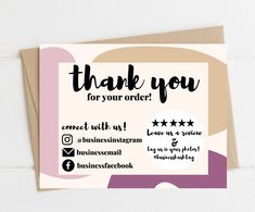 Personalized Thank You Cards, Printable Thank You Cards, Small Business Cards, Business Card Design, Appreciation Note, World Map Wallpaper, Thank You Card Design, Creative Gift Wrapping, Chocolate Packaging