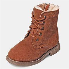 drenge sko sne støvler flad hæl læder Casual Støvler flere farver – DKK kr. 189