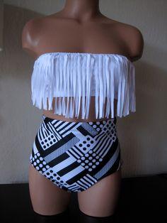 Fringe retro bikini