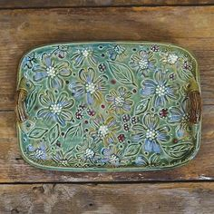 Dogwood Tray - an example of the beautiful long-time North Carolina Pottery tradition ... Bluegill Pottery created this stoneware pottery | from Our State Magazine