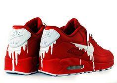 Nike air max 90 x custom red satin air max sneakers, red sneakers Red Sneakers, Air Max Sneakers, Sneakers Fashion, Fashion Shoes, Sneakers Nike, Fashion Outfits, Nike Roshe, Air Max 90, Fashion Male