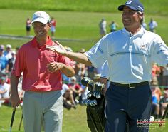 Mike Weir and Freddie Couples having a laugh!
