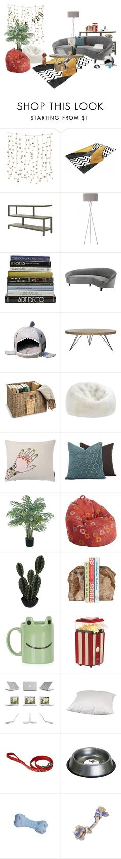 """""""DK.H's dorm: Living room"""" by darkheart-official ❤ liked on Polyvore featuring interior, interiors, interior design, home, home decor, interior decorating, Armen Living, Eichholtz, Safavieh and Improvements"""