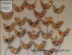 Kalevalapäivän lintuja 2D-luokasta (ope: Meri Lintu)     Kanteleita hauen leukaluista 4B-luokasta (ope:M... Crafts For Kids, Arts And Crafts, World Thinking Day, Bird Crafts, Textile Fabrics, Animals For Kids, Christmas Ornaments, Holiday Decor, Projects