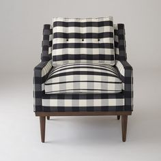 Jack Chair - Windowpane Plaid – Schoolhouse Electric & Supply Co. Chair Design, Furniture Design, Trendy Furniture, Furniture Market, Urban Furniture, Furniture Chairs, White Furniture, Office Furniture, Outdoor Furniture