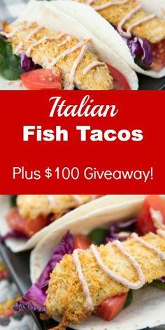 Italian Fish Tacos with #KraftFreshTake - and a one-hundred dollar Giveaway!
