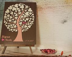 Personalized Wedding Anniversary Guest Book Alternative by DecoJubilee Wooden Easel, Unique Gifts, Handmade Gifts, Guest Book Alternatives, Guestbook, Writing Instruments, Other Rooms, Wedding Guest Book, Personalized Wedding
