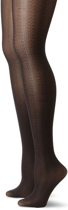 Anne Klein Women's 2 Pack Cable Tights * You can find out more details at the link of the image.