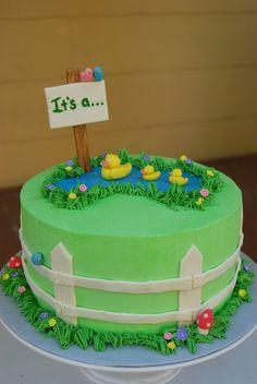 Gender Revealing Cake — Baby Shower
