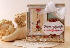 Inspired by Stamping, Joanna Munster, Elegant Christmas Sentiments stamp set, Christmas card