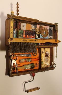 "Assemblage Art--""Out of the Studio"" Kathy Moore.                                                www.kathymooreart.com"