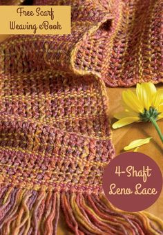 Welcome autumn with 6 free scarf weaving projects! Check out these 4-shaft loom and rigid heddle projects now.