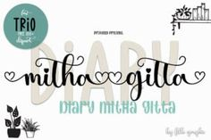 Diary Mithagitta is an enchanting handwritten font. This versatile script font has a wide spectrum of applications ranging from greeting... Hand Lettering Fonts, Handwriting Fonts, Typography Fonts, Script Fonts, New Fonts, Modern Script Font, Signature Fonts, Wedding Logos, Font Setting
