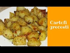 Cartofi grecesti (de post) - YouTube Hungarian Recipes, Romanian Recipes, Kevin Macleod, Cake Decorating Videos, Romanian Food, Vegetarian, Vegetables, Cooking, Album