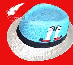 psathino kapelo paidiko zografismeno tsarouxi Panama Hat, Bucket Hat, Hand Painted, Hats, T Shirt, Accessories, Supreme T Shirt, Tee Shirt, Bob