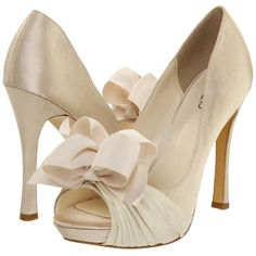 rsvp Cailyn High Heels ($15) ❤ liked on Polyvore featuring shoes, white, peep toe shoes, leather sole shoes, peeptoe shoes, peep toe platform shoes and rsvp footwear