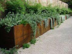 jardiniere en acier corten