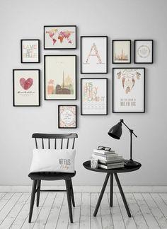 Kreative Wandgestaltung - 35 inspirierende Fotobeispiele und Ideen
