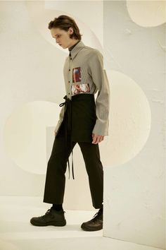 The Central Saint Martins graduate puts less focus on the feminine, more on Japanese school uniforms, three piece suits and classic working class looks.