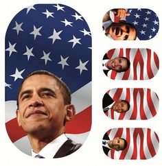Can't quite master DIY nail design? With these @BarackObama decals, YES WE CAN! (Also available in #Romney)