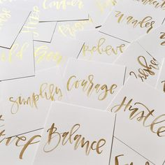 just, yes to gold watercolor prepping these 2016 custom words for our january box gals over at @wildehousepaper everyone gets a personalized pc in their box this month! now I just have to choose my word for the new year  #thewildetribe