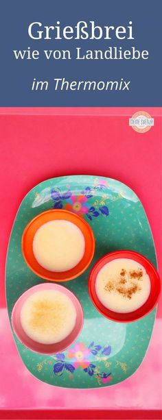 Sometimes happiness tastes like semolina Manchmal schmeckt Glück wie Grießbrei Creamy semolina porridge from Thermomix®️ Pudding Desserts, Pudding Recipes, Fun Desserts, Semolina Recipe, Semolina Pudding, How To Make Your Own Recipe, Food To Make, Baby Food Recipes, Happiness