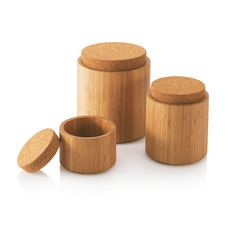 Bamboo & Cork Canisters by @bambu   #Eco Green Gift Ideas