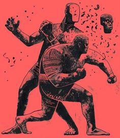 """""""Super Samoan"""" Mark hunt artwork by Gian Galang in Illustration"""