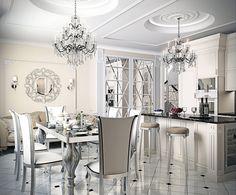 Интерьер кухни в стиле арт-деко: 55 вариантов дизайна, фото-6