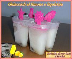Il piacere di star bene... a tavola!: Ghiaccioli al limone e liquirizia
