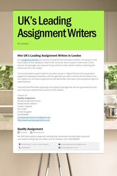 UK's Leading Assignment Writers