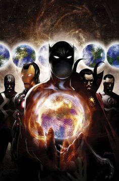 The Illuminati: Black Bolt, Iron Man, Black Panther, Dr Strange & Mr Fantastic Marvel Dc Comics, Ms Marvel, Bd Comics, Marvel Heroes, Anime Comics, Comic Book Characters, Comic Book Heroes, Marvel Characters, Comic Books Art
