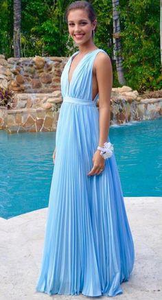 Prom Dress,Sexy Long Prom Dress - Sky Blue