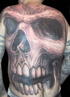 4-way Big Skull Collab  Paul Booth, Filip Leu, Jack Rudy and Guy Aitchison