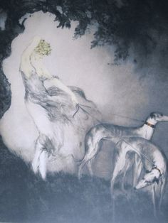 Louis Icart : Gust of Wind. (Even if I could afford it, I doubt I'd buy something like this online ...) $2600